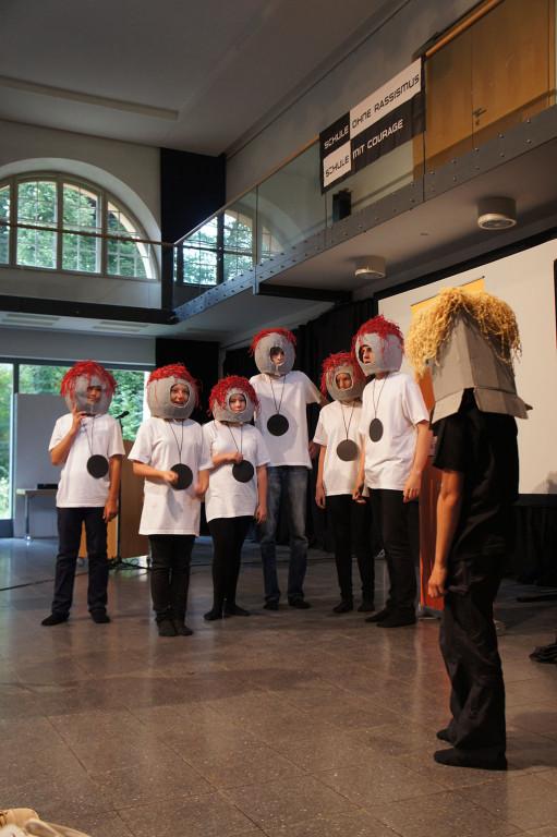 Theateraufführung bei der Auftaktveranstaltung