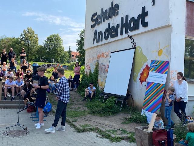 Titelverleihung an der Staatlichen Gemeinschaftsschule Jenaplanschule in Weimar Rede der aktiven SuS